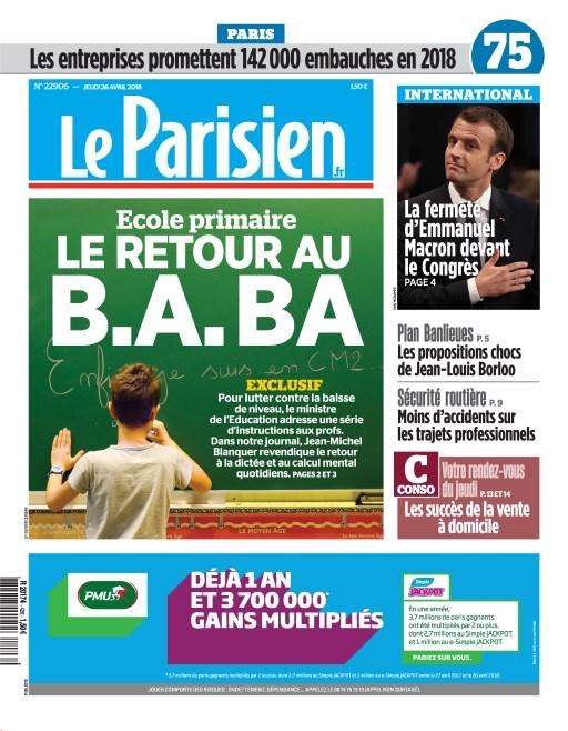 Le Parisien numéro 20180426